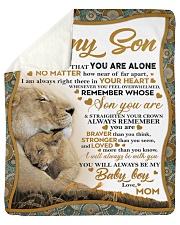"To my son mom lion never feel mug Sherpa Fleece Blanket - 50"" x 60"" thumbnail"
