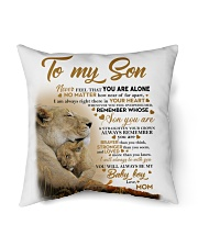 """To my son mom lion never feel mug Indoor Pillow - 18"""" x 18"""" thumbnail"""