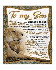 "To my son mom lion never feel mug Quilt 50""x60"" - Throw thumbnail"