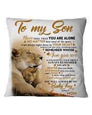 To my son mom lion never feel mug Square Pillowcase thumbnail