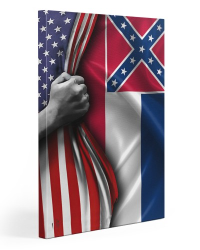 American mississippi canvas hand