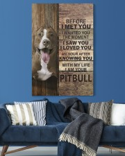with my life I am your pitbull canvas 20x30 Gallery Wrapped Canvas Prints aos-canvas-pgw-20x30-lifestyle-front-06