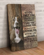 with my life I am your pitbull canvas 20x30 Gallery Wrapped Canvas Prints aos-canvas-pgw-20x30-lifestyle-front-07