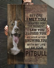 with my life I am your pitbull canvas 20x30 Gallery Wrapped Canvas Prints aos-canvas-pgw-20x30-lifestyle-front-30
