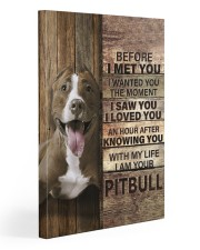 with my life I am your pitbull canvas 20x30 Gallery Wrapped Canvas Prints front