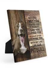 with my life I am your pitbull canvas 8x10 Easel-Back Gallery Wrapped Canvas thumbnail