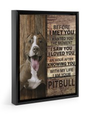 with my life I am your pitbull canvas 11x14 Black Floating Framed Canvas Prints thumbnail