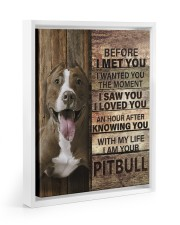 with my life I am your pitbull canvas 11x14 White Floating Framed Canvas Prints thumbnail