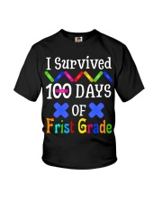 I survived 100 days of first grade Youth T-Shirt tile