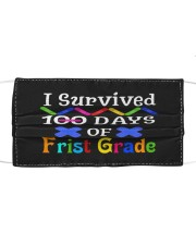I survived 100 days of first grade Cloth face mask front