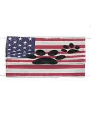 dog us flag mask Cloth face mask front