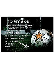 Soccer poster mom love son Horizontal Poster tile