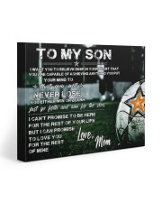 Soccer poster mom love son 20x16 Gallery Wrapped Canvas Prints thumbnail