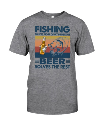 fishing beer solve problems vintage