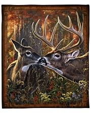"""Deer quilt 2 Fleece Blanket - 50"""" x 60"""" front"""