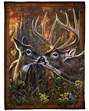 Deer quilt 2 Fleece Blanket tile