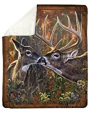 "Deer quilt 2 Sherpa Fleece Blanket - 50"" x 60"" thumbnail"