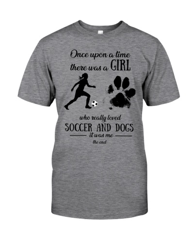 Once upon time girl loved soccer dogs