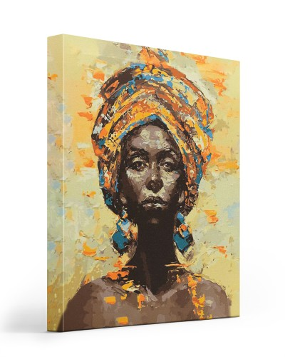 black old woman canvas