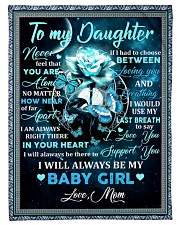 """To my daughter mom blue rose blanket Small Fleece Blanket - 30"""" x 40"""" front"""