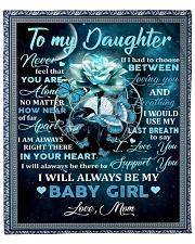 To my daughter mom blue rose blanket Fleece Blanket tile