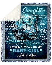 To my daughter mom blue rose blanket Sherpa Fleece Blanket tile