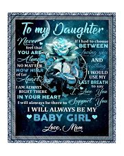 To my daughter mom blue rose blanket Quilt tile