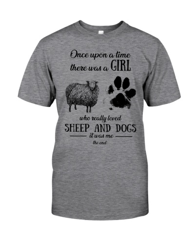 Once upon time girl loved sheep dogs