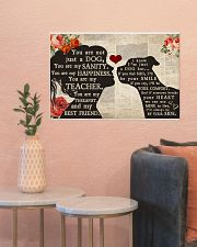 American Bulldog girl poster 24x16 Poster poster-landscape-24x16-lifestyle-22