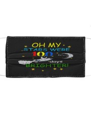 My stars 100 days brighter Cloth face mask front
