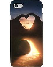 Three crosses Easter morning heart shape Phone Case tile