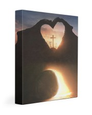 Three crosses Easter morning heart shape Gallery Wrapped Canvas Prints tile