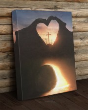 Three crosses Easter morning heart shape 16x20 Gallery Wrapped Canvas Prints aos-canvas-pgw-16x20-lifestyle-front-19