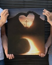 Three crosses Easter morning heart shape 16x20 Gallery Wrapped Canvas Prints aos-canvas-pgw-16x20-lifestyle-front-24