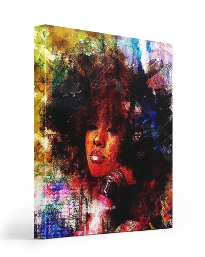 young black girl painting canvas