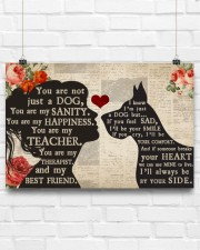 Great Dane girl poster 24x16 Poster aos-poster-landscape-24x16-lifestyle-18