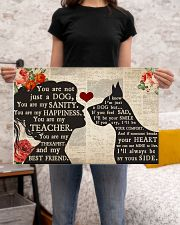 Great Dane girl poster 24x16 Poster poster-landscape-24x16-lifestyle-20