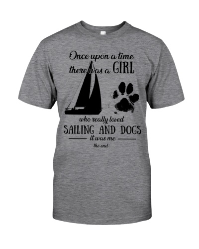 Once upon time girl loved sailing 3 dogs