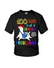 100 days school Llama Youth T-Shirt tile