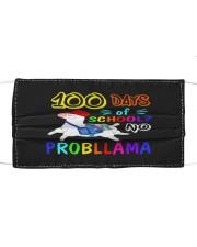 100 days school Llama Cloth face mask front