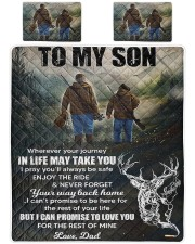 Deer hunting - To my son King Quilt Bed Set thumbnail