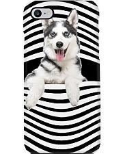 husky Line mask Phone Case tile