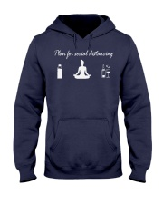 plan social distancing yoga Hooded Sweatshirt front