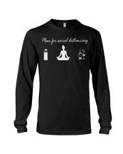 plan social distancing yoga Long Sleeve Tee thumbnail