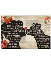Dog girl blanket 17x11 Poster thumbnail