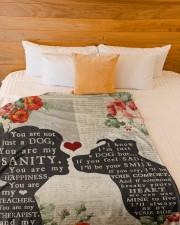 "Dog girl blanket Large Fleece Blanket - 60"" x 80"" aos-coral-fleece-blanket-60x80-lifestyle-front-02a"