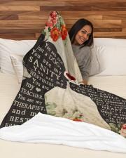 "Dog girl blanket Large Fleece Blanket - 60"" x 80"" aos-coral-fleece-blanket-60x80-lifestyle-front-03a"