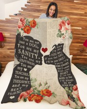 "Dog girl blanket Large Fleece Blanket - 60"" x 80"" aos-coral-fleece-blanket-60x80-lifestyle-front-04a"