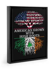 American with Irish roots Floating Framed Canvas Prints Black tile