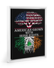 American with Irish roots Floating Framed Canvas Prints White tile